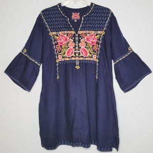 Johnny Was Axton Embroidered Tunic Dress